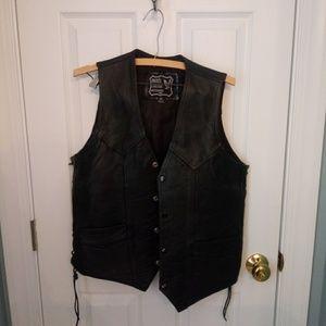 Bikers Leather Vest size 42